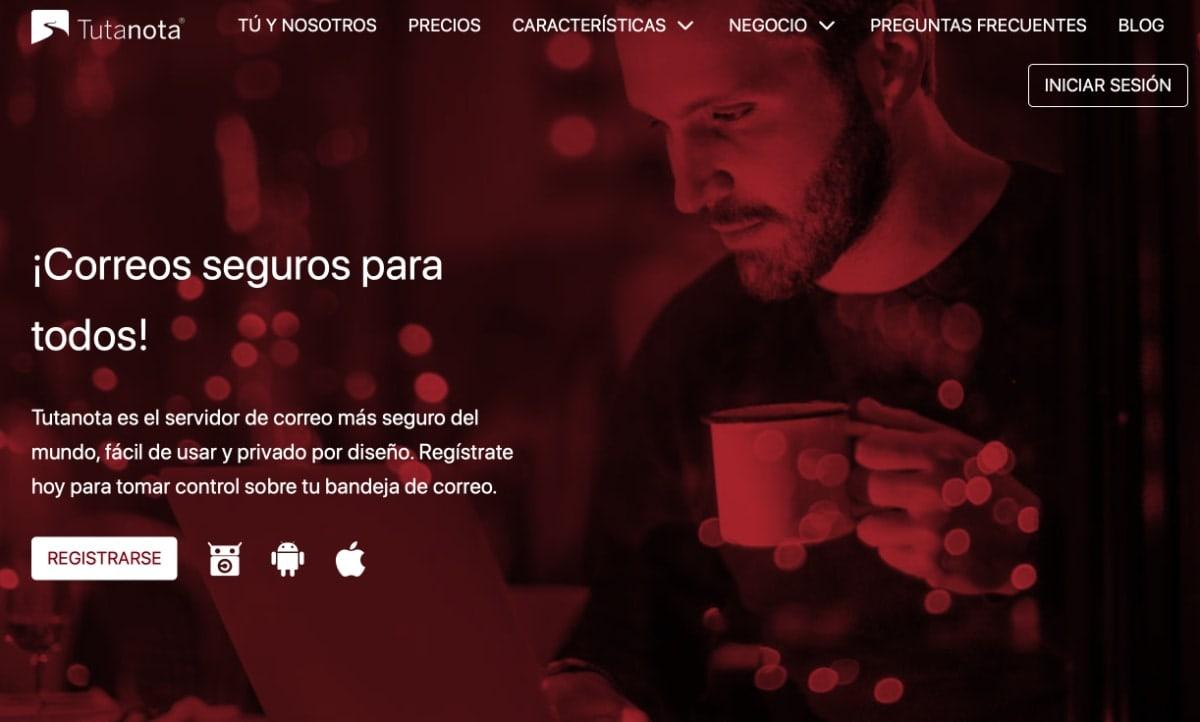 Tutanota: proveedor de correo electrónico seguro y privado