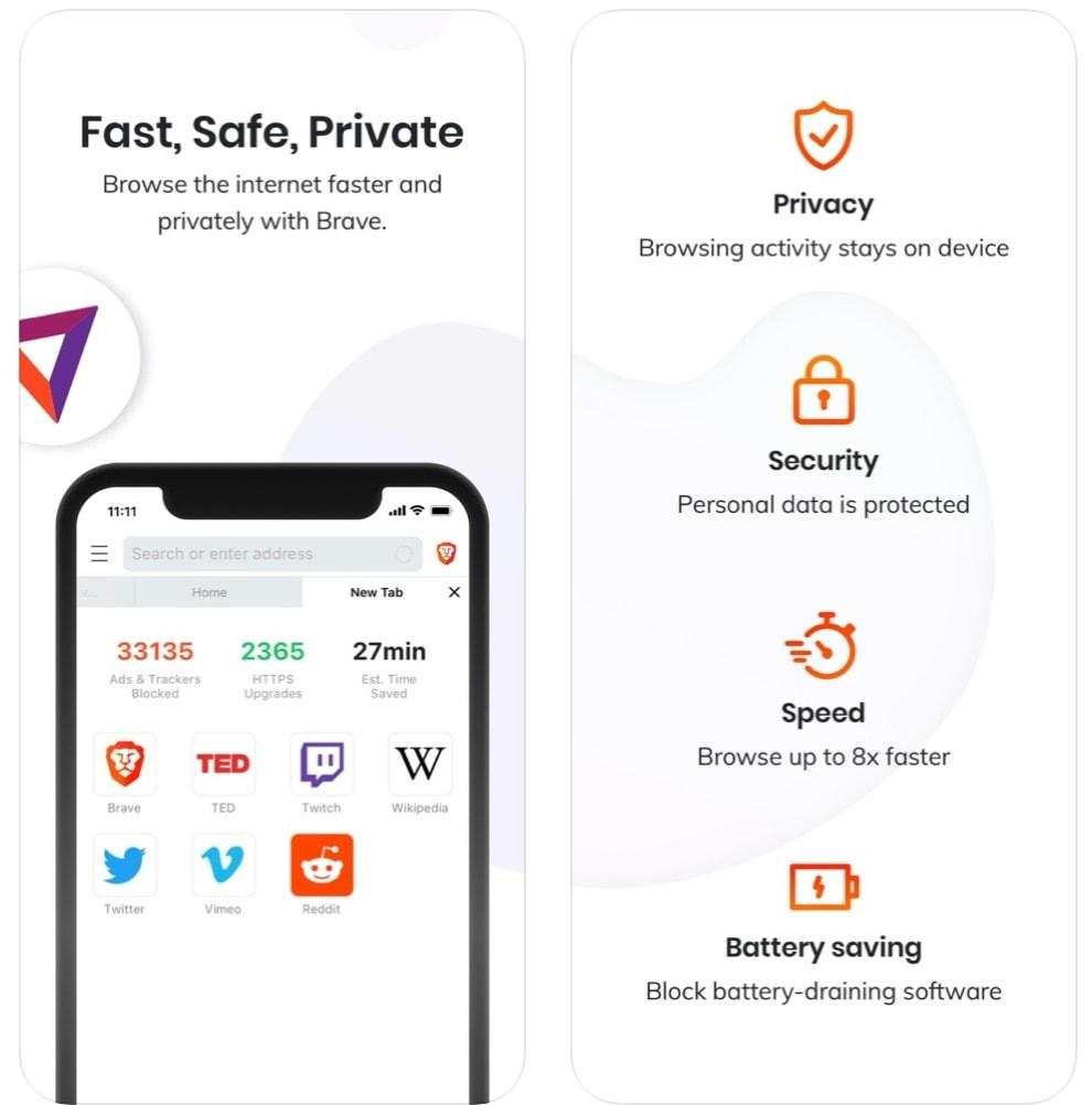 Brave Browser: Fast AdBlocker (navegador gratis)