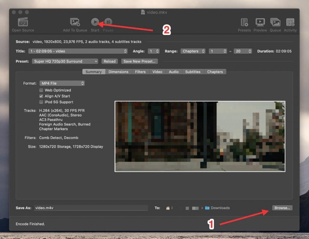 Cómo reducir el tamaño de un vídeo con HandBrake