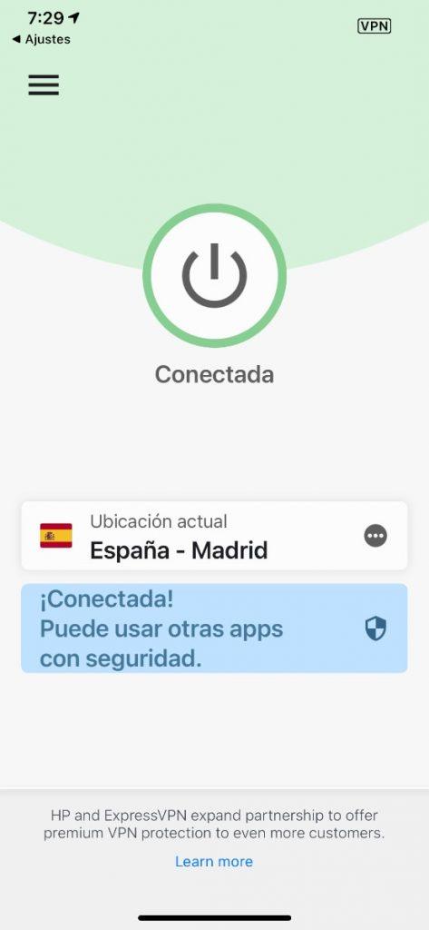 app para iOS de ExpressVPN