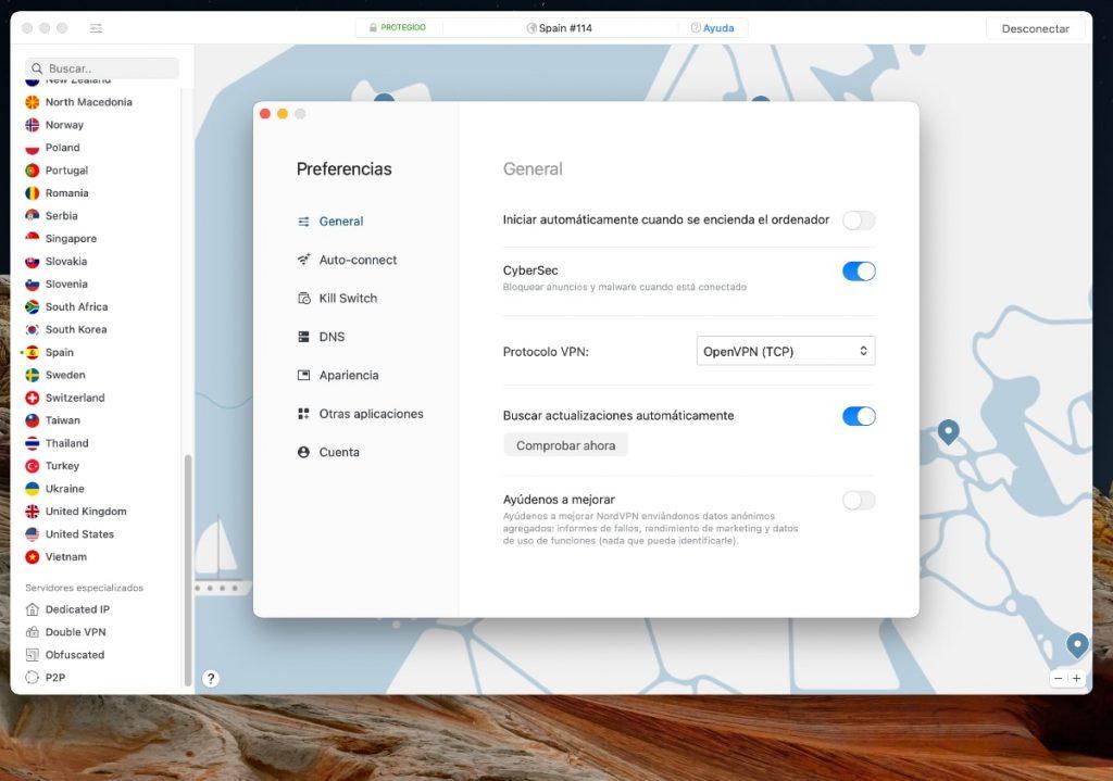 NordVPN - Rendimiento, funciones y configuración