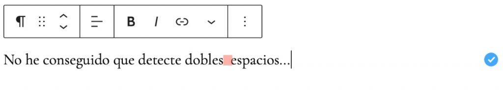 doble espacio no detectado languagetool