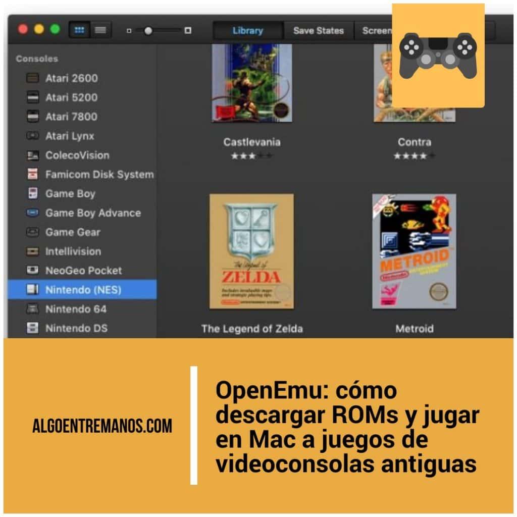 OpenEmu: cómo descargar ROMs y jugar en Mac a juegos de videoconsolas antiguas