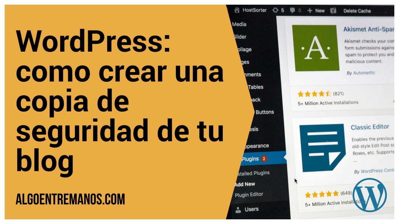 Como crear una copia de seguridad de WordPress