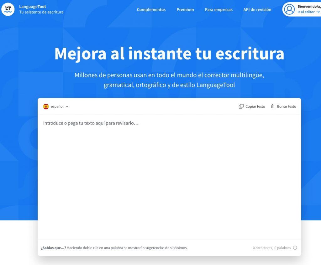 LanguageTool: editor de estilo, puntuación y gramática.