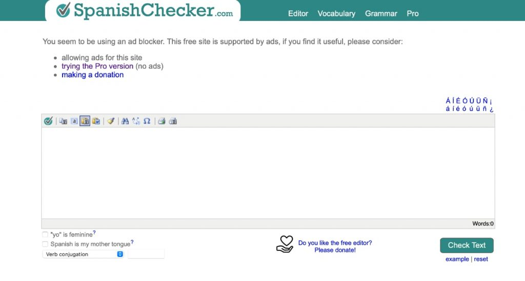 SpanishChecker: corrector de ortografía y gramática, no de estilo.