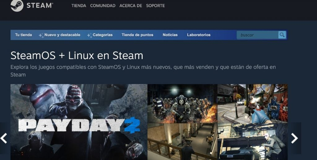 Steam videojuegos Linux