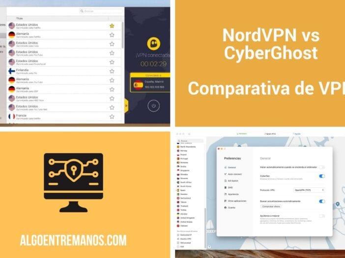 Comparativa de VPN entre NordVPN vs CyberGhost